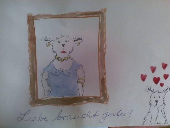 Dieses Kunstwerk wurde gestaltet von 1. Ilse Heinrichs, 2. Linus Lautenschläger, 3. Herbert Brahms, 4. Johannes Borgemeister