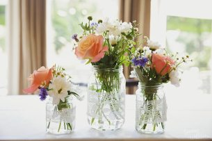 Fresh flowers at Cain Manor