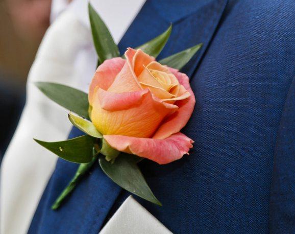 miss piggy rose buttonhole