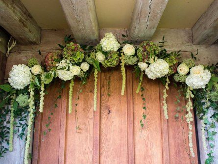Entrance Flowers at Cain Manor