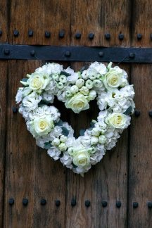 Heart shaped wreath at Notley Abbey