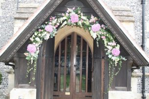Church Archway of flowers