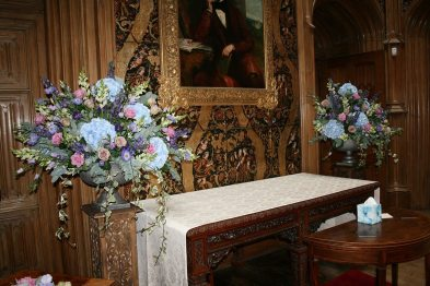 Blue hydrangea at Highclere Castle