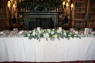 Top table arrangement at Highclere Castle