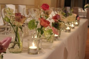 top table arrangement at The Great House Sonning
