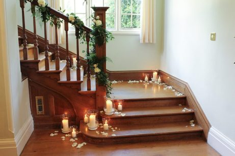 Staircase flowers at Silchester House