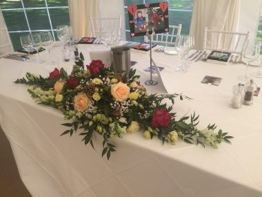 Top table arrangement at Silchester House