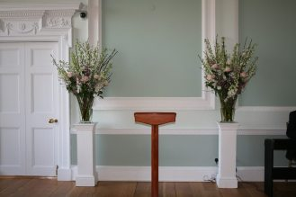 Blossom vases at Botleys Mansion