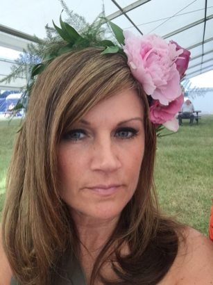 flower crown at Ascot race course