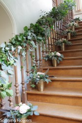 Silchester House Staircase Flowers
