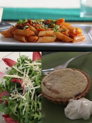 Jamie Oliver 30 Minuten Menü – Jools´Pasta Chicorée-Rucola-Salat, Mandelcreme-Törtchen