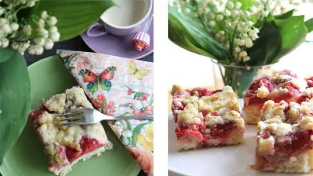 Erdbeer-Walnuss-Streuselkuchen