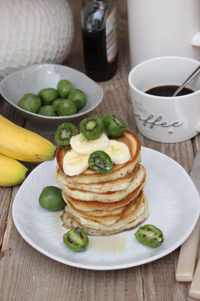 Fluffige Bananen-Protein-Pancakes