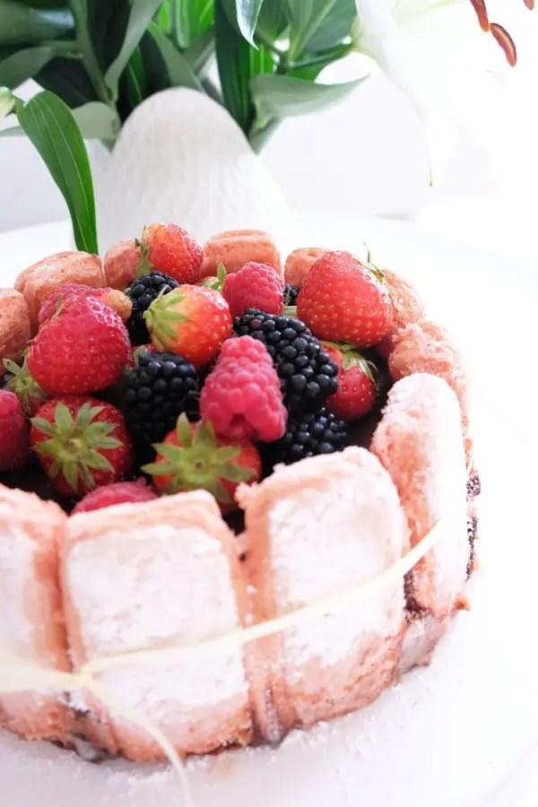 Charlotte au chocolat mit Biskuits Roses de Reims mit Hagen Grote