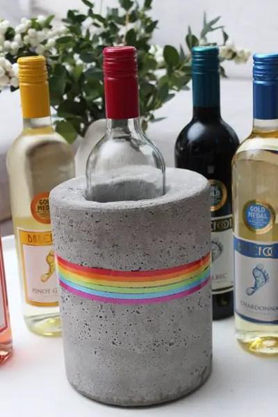 """DIY – Beton Weinkühler """"Dress the Rainbow"""" mit Barefoot Wine"""
