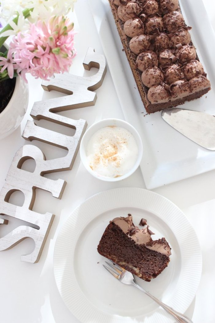 low carb double chocolate cake
