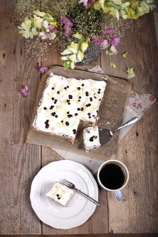 Heidelbeer-Milchreis-Schnitten | Wunderbar cremig & fruchtig