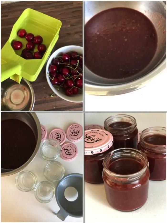 Kirschmarmelade mit Dark Milk Schokolade selbst gemacht