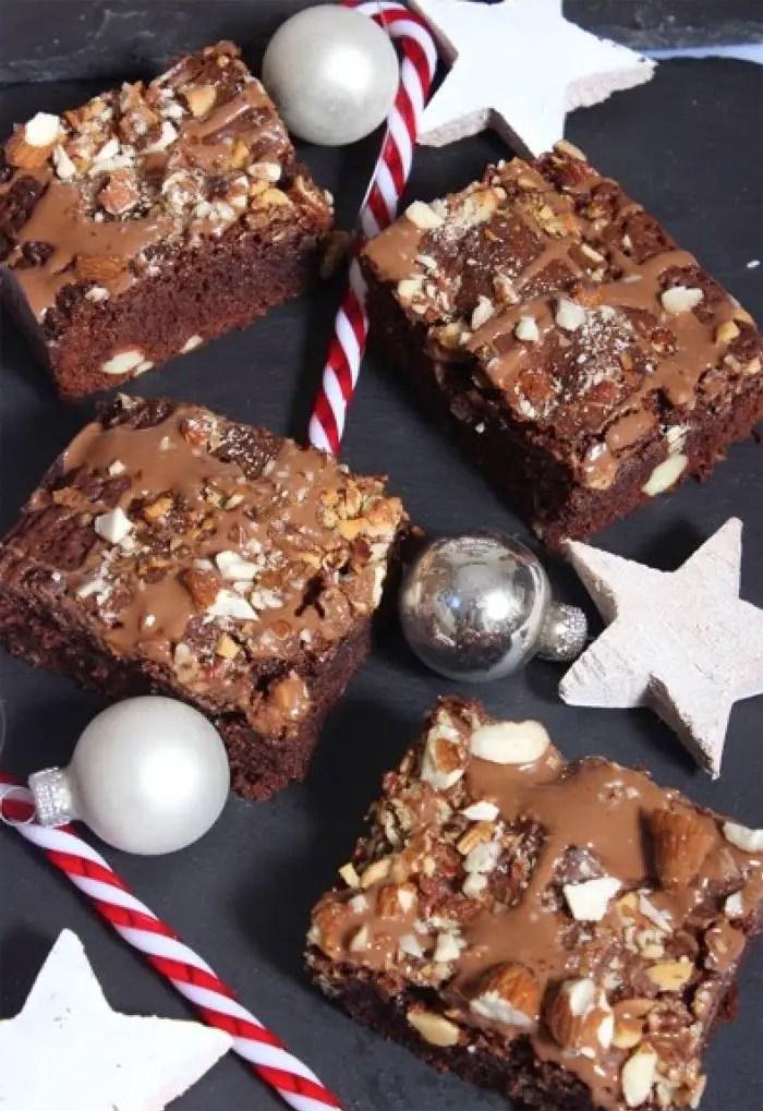 Weihnachtliche Mandel-Brownies Rezept