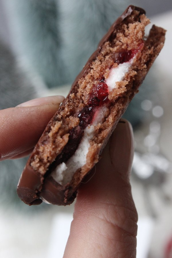 Schokoladen-Marshmallow-Doppeldecker - Weihnachtliches Rezept