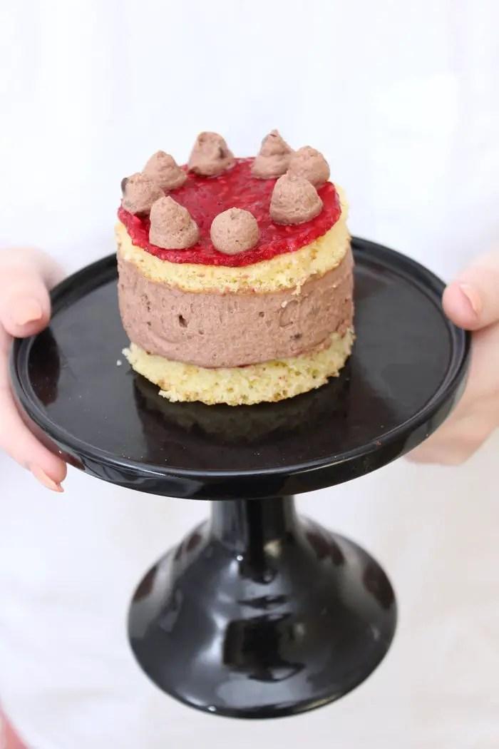 Schokoladenmousse-Himbeer Törtchen
