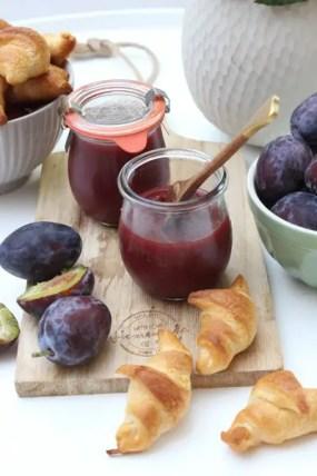 Zwetschgenmarmelade mit braunen Zucker -Rezept