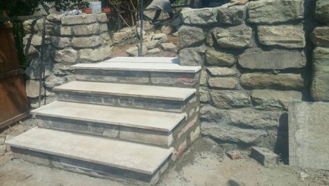 Stone Work with Steps