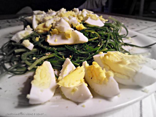 Agretti al limone con uova