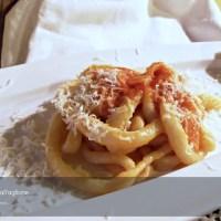 Pici all'aglione per Le mani in pasta del Molino