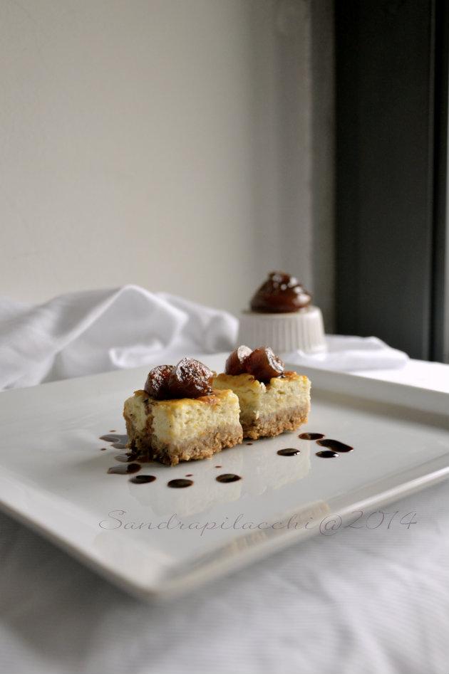 mini cheesecake al gorgonzola dop, fichi caramellati e Ficotto