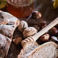 Pane al miele, farina di castagne e noci