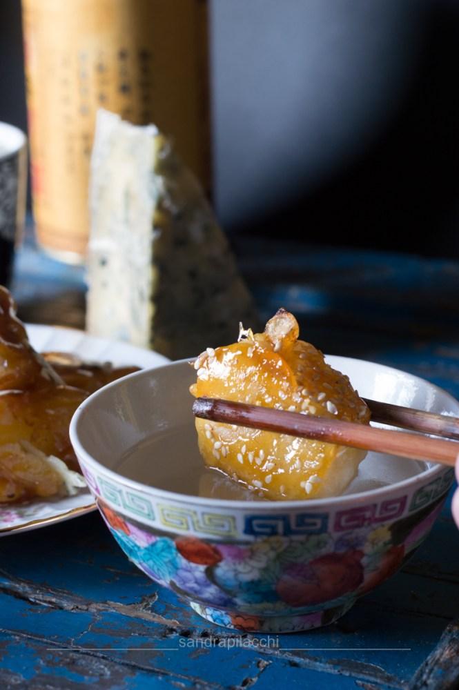 Latti da mangiare 4.0 - Dumplings al Tonno Firenze e frutta caramellata al Blu Mugello