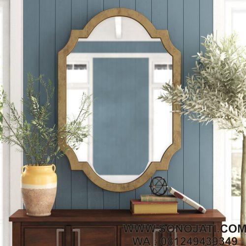 Cermin Hiasan Dinding Aksen Modern & Kontemporer