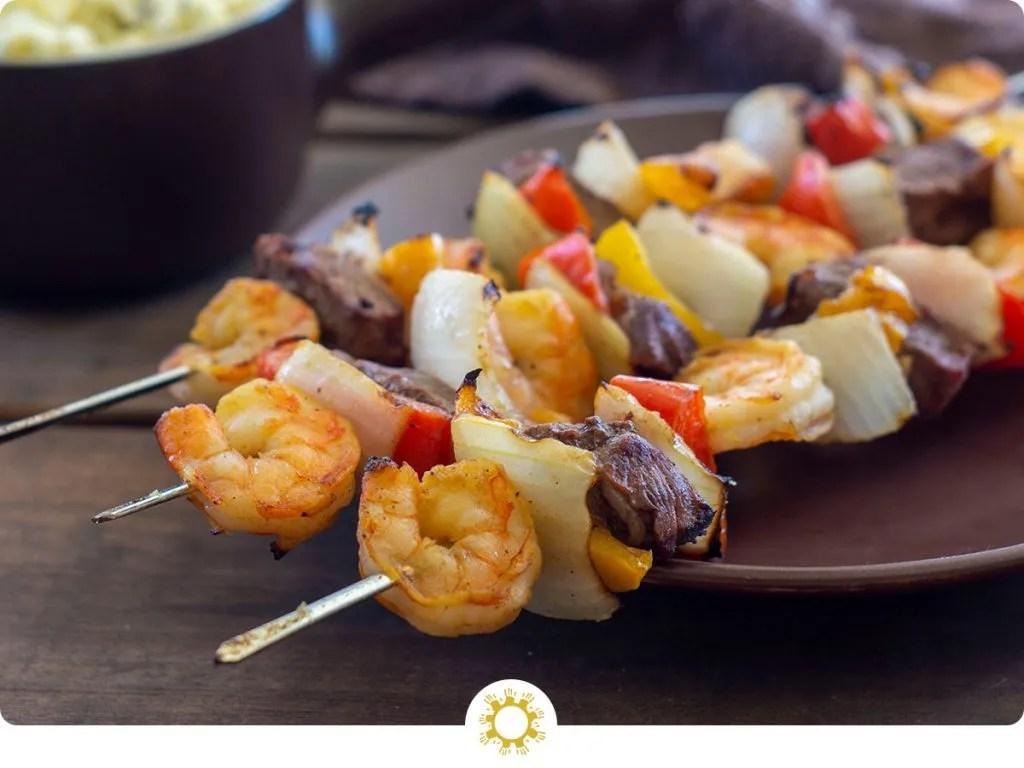 Steak and Shrimp Kabobs