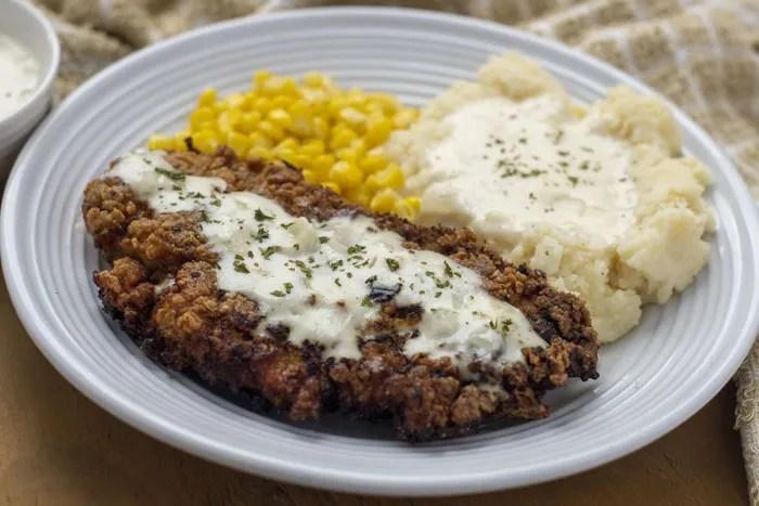 Creamy Buttermilk Chicken-Fried Chicken