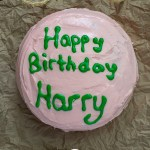 Harry Potter's Birthday Cake on brown paper (with title overlay)