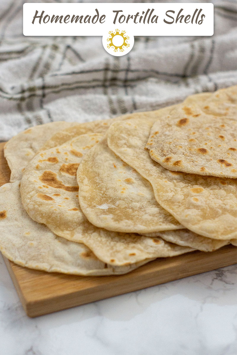 Homemade Tortilla Shells with Only 4 Ingredients