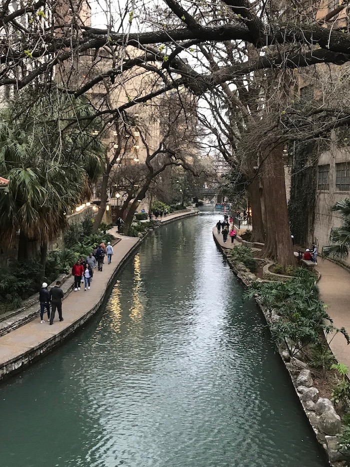 View of the riverwalk at San Antonio