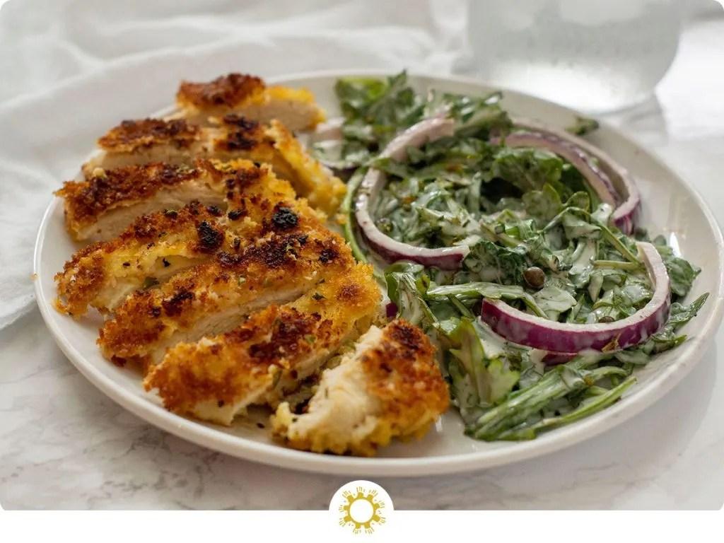 Crispy Chicken with Salad