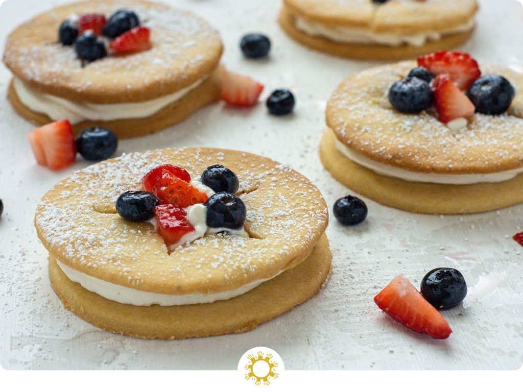 Berry Shortcake with Cornmeal Cookies with logo overlay