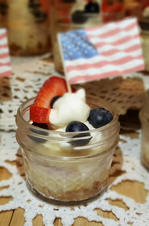 Pressure Cooker Red White Blue Cheesecake