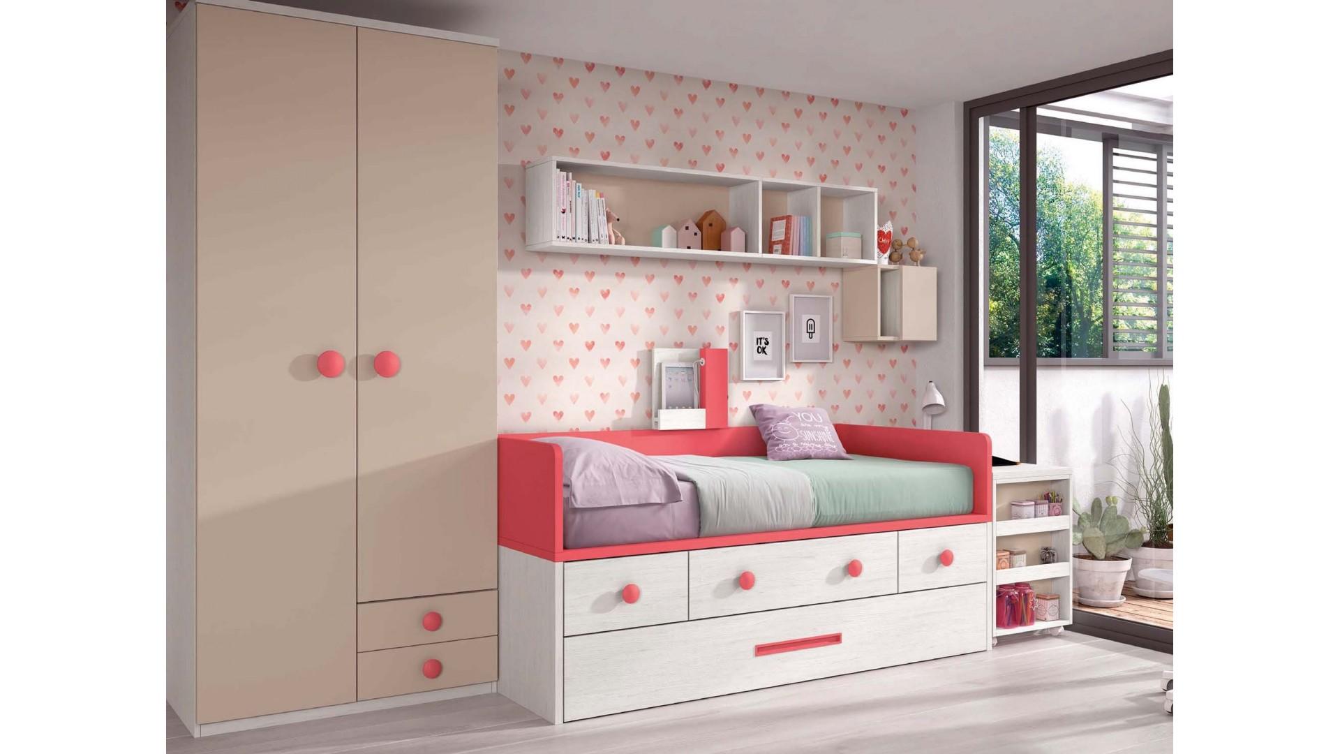 lit 1 personne avec 3 coffres et un lit gigogne personnalisable f027 glicerio