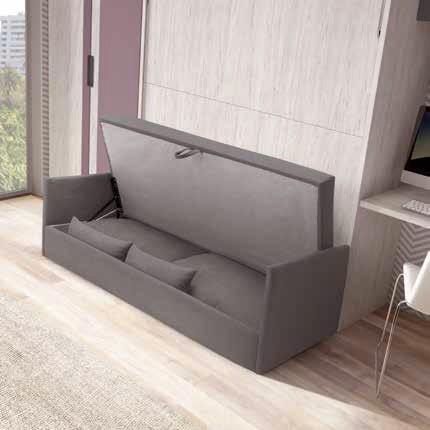 lit escamotable 2 personnes avec canape