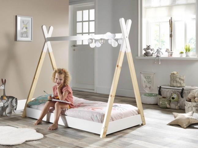 lit cabane enfant tipi 70x140 cm sonuit