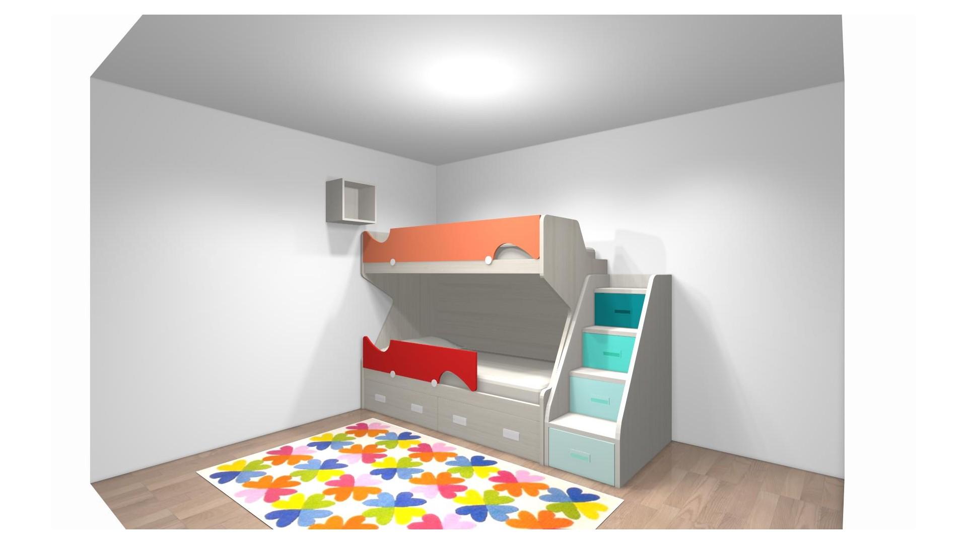 lit superpose enfant et escalier pour mme giuliani