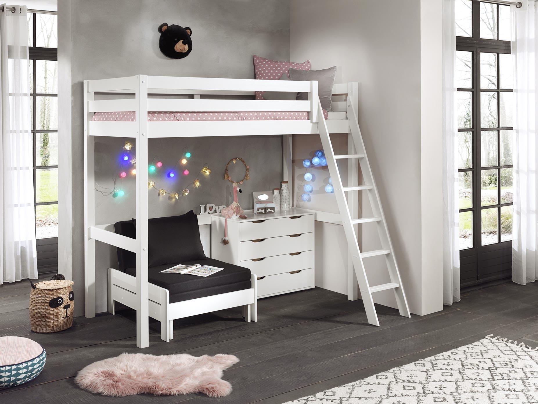 lit mezzanine pour enfant clara en pin