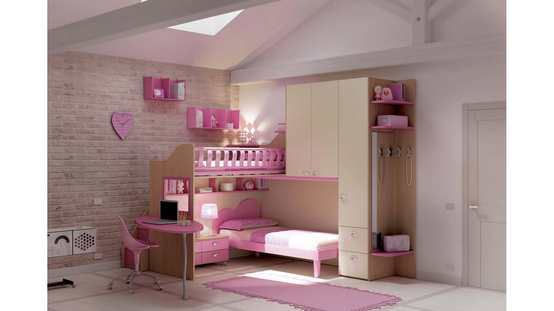 chambre enfant personnalisable ks16 lits superposes en mezzanine moretti compact