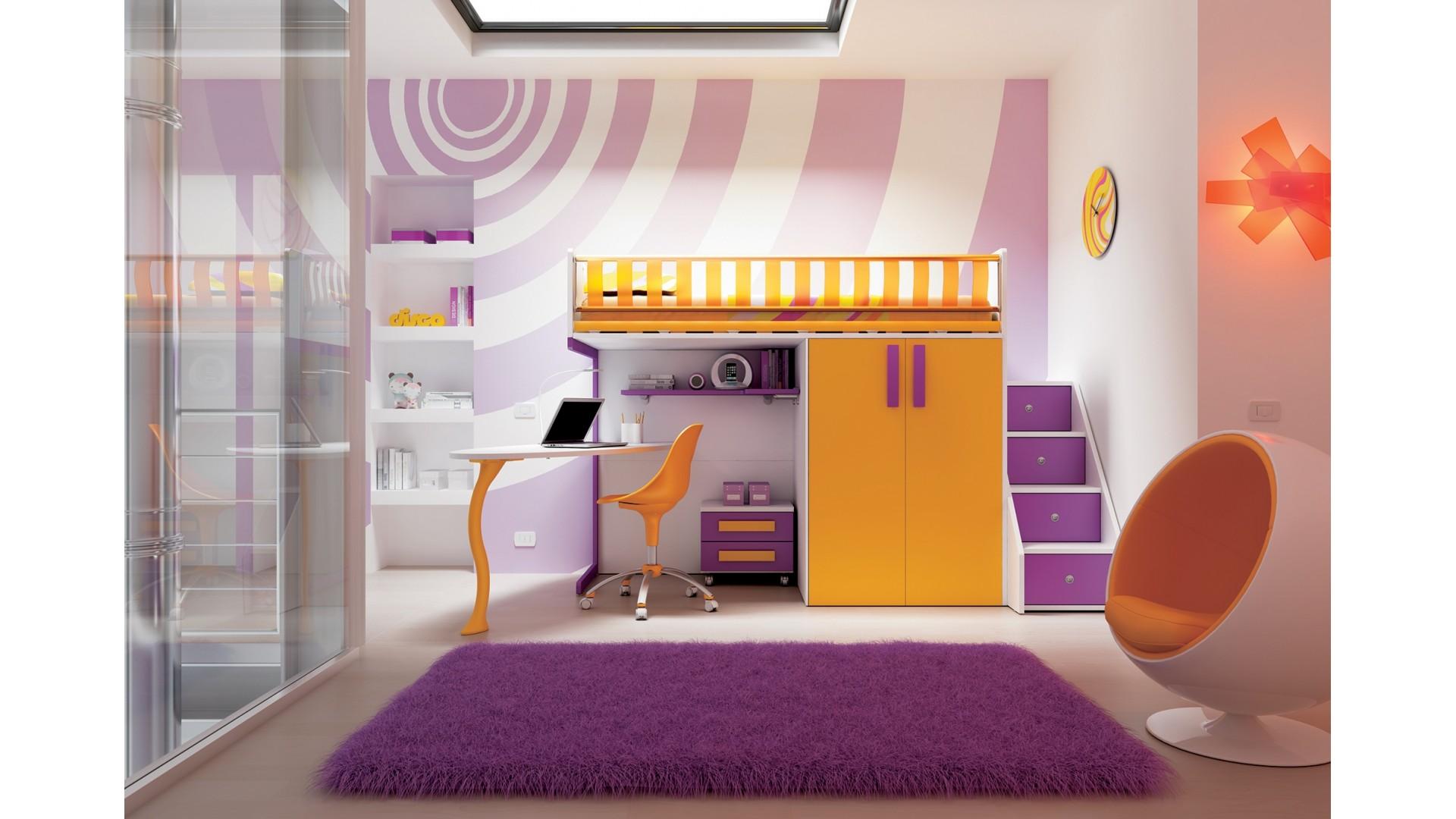 chambre enfant personnalisable ks23 lit mezzanine ultra compact moretti compact