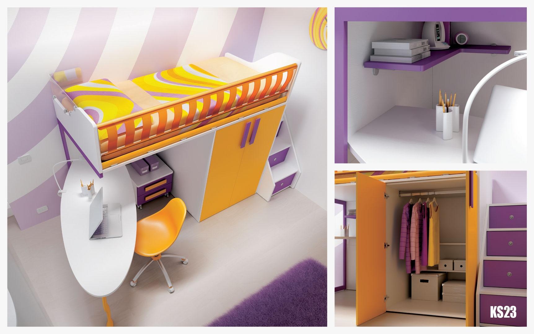 chambre enfant avec lit mezzanine