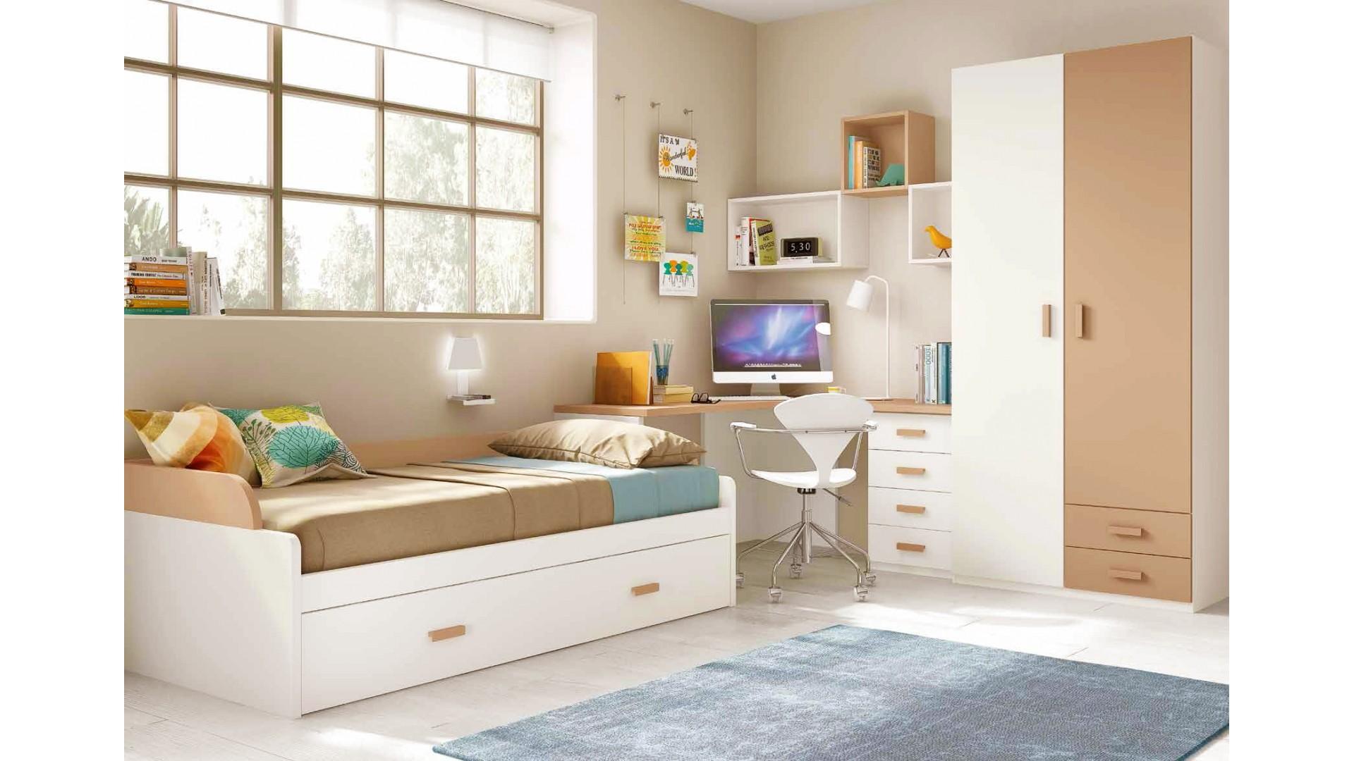 chambre pour enfant composition l103 avec lit gigogne glicerio